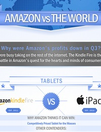 AN INFOGRAPHIC DETAILING AMAZON'S GROWING NUMBER OF PRODUCT LINES AND MAIN COMPETITORS
