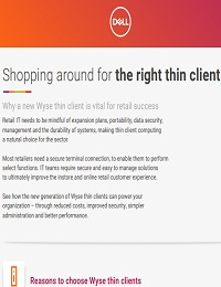 SHOPPING AROUND FOR THE RIGHT THIN CLIENT