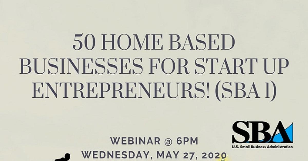 50 HOME BASED BUSINESSES FOR START UP ENTREPRENEURS!