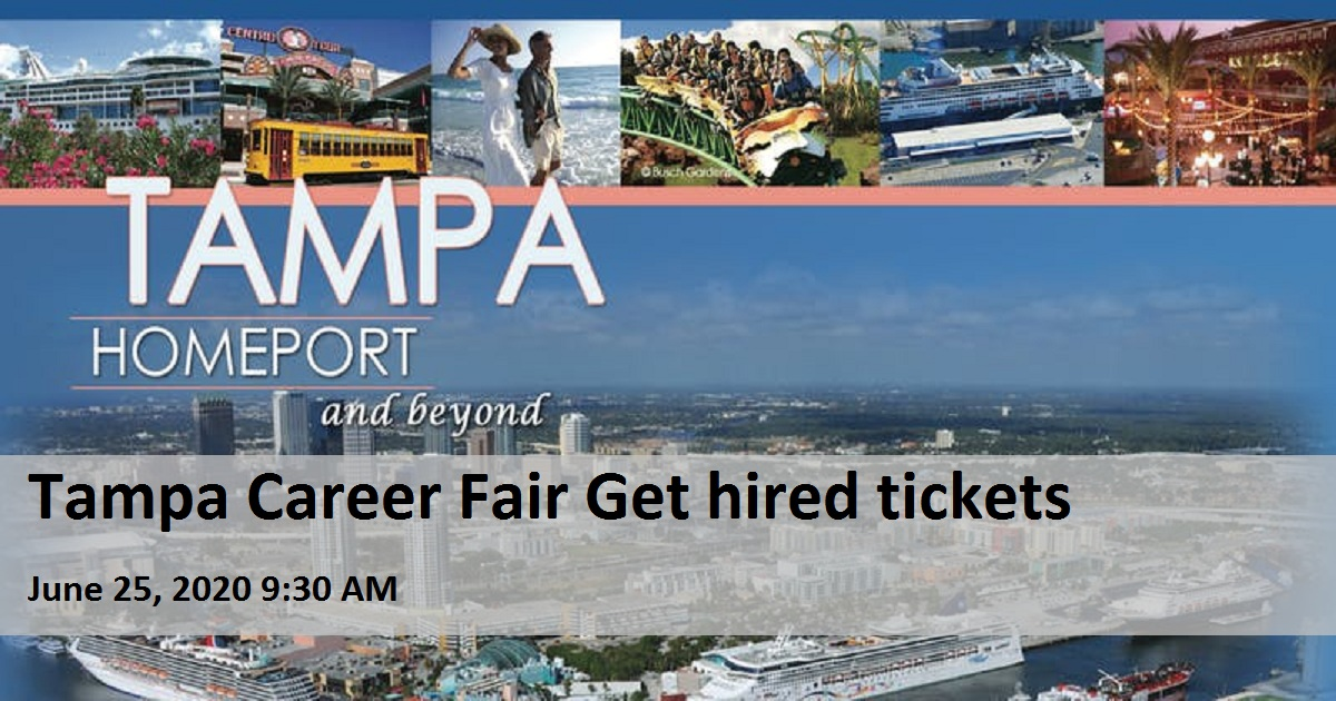 Tampa Career Fair Get hired tickets