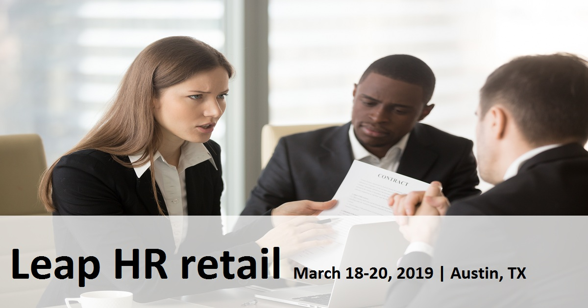 Leap HR Retail | March 18-20, 2019 | Austin,Texas, USA