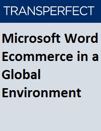 MICROSOFT WORD ECOMMERCE IN A GLOBAL ENVIRONMENT